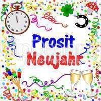 Hintergrund Prosit Neujahr