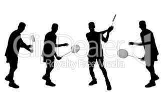 Sportler Silhouetten Badminton
