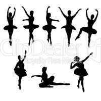 Ballett Tänzerinnen Silhouetten