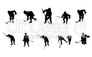 Sportler Silhouetten Eishockey