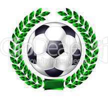 Fußball mit Lorbeerkranz