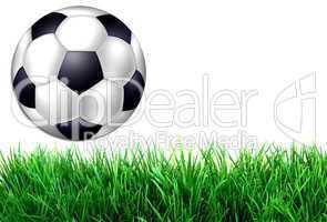 Hintergrund mit Fußball auf Rasen
