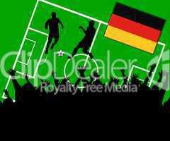 Fußball Länderspiel im Stadion Deutschland