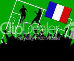 Fußball Länderspiel im Stadion Frankreich