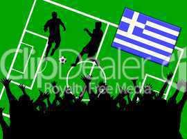 Fußball Länderspiel im Stadion Griechenland