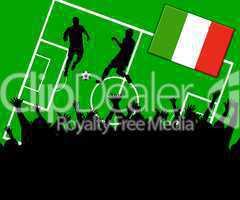 Fußball Länderspiel im Stadion Italien