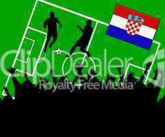 Fußball Länderspiel im Stadion Kroatien