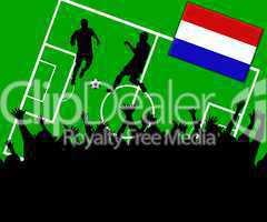 Fußball Länderspiel im Stadion Niederlande Holland