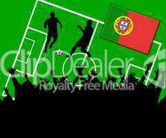Fußball Länderspiel im Stadion Portugal