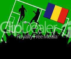 Fußball Länderspiel im Stadion Rumänien