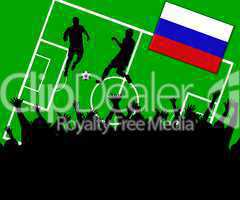 Fußball Länderspiel im Stadion Russland