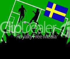 Fußball Länderspiel im Stadion Schweden