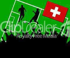Fußball Länderspiel im Stadion Schweiz