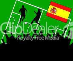 Fußball Länderspiel im Stadion Spanien