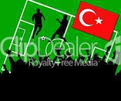 Fußball Länderspiel im Stadion Türkei