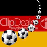 deutsche Fahne mit Fußball