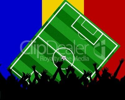 Fußball Fans im Stadion Rumänien