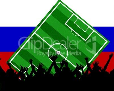 Fußball Fans im Stadion Russland