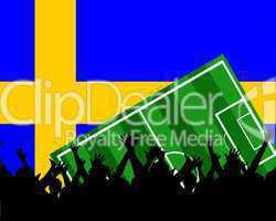 Fußball Fans im Stadion Schweden