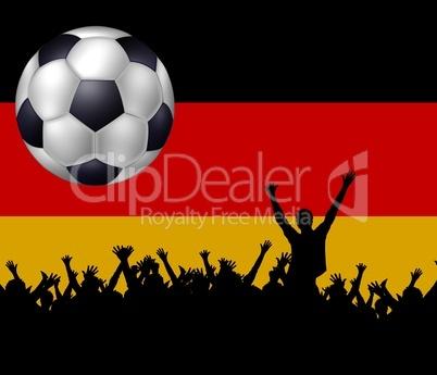 deutsche Fußballfans