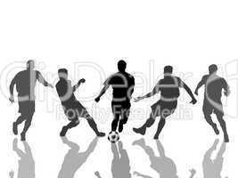 Fußballer Silhouetten