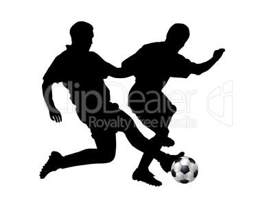 Fussballspieler Silhouette