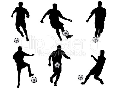 Fussballspieler Silhouette Royalty Free Images Photos And