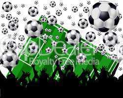 Fußball Fans im Stadion