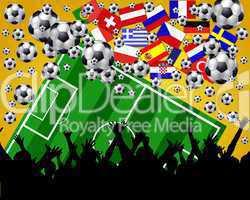 europäische Fußballfans