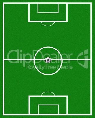 Fußball Spielfeld