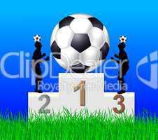 Fußball Siegertreppchen