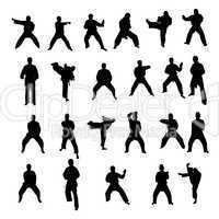 Sportler Silhouetten Kampfsport