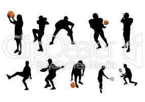 Sportler Silhouetten Ballsport