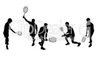 Sportler Silhouetten Tennis