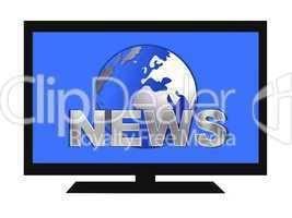 Flachbildfernseher mit News Symbol