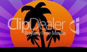 abstrakter Hintergrund mit Palmen