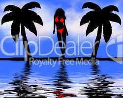 Bikini Girl Hintergrund