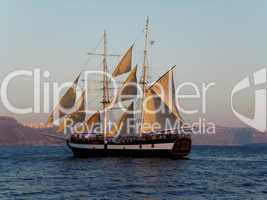 Kreuzfahrt im Segelschiff