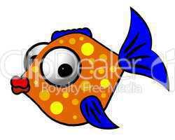 bunter Fisch auf weißem Hintergrund