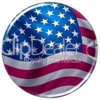 Button im Stars & Stripes Design