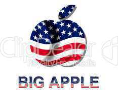 Big Apple Logo im Stars & Stripes Design