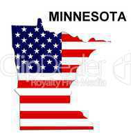 USA Landkarte Staat Stars & Stripes Minnesota