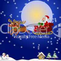 Hintergrund Nikolaus mit Schlitten