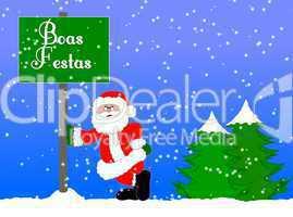 Weihnachtshintergrund portugiesisch