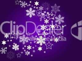 abstrakter Weihnachtshintergrund Eiskristalle