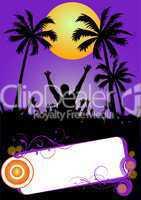 violettes party plakat
