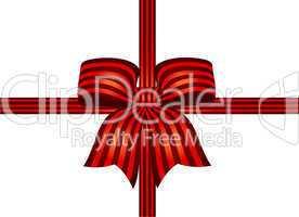 dunkelroterote schleife mit roten streifen