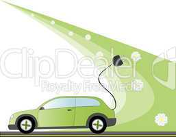 Electric Car Illustration