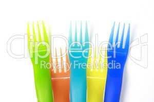 plastic forks background