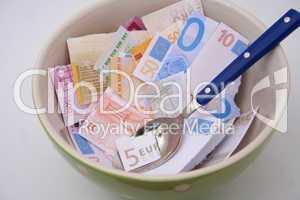 Zerrissene Euroscheine